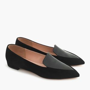 NEW J. Crew Gwen Pointed Loafers In Patent - 11